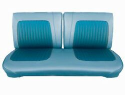 64 Falcon Futura Convertible Front Split Bench Seat Upholstery, Blue Met. 2 Tone
