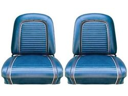 1963 Falcon Futura Hardtop, Front Bucket Seat Upholstery, Blue Met, Two Tone