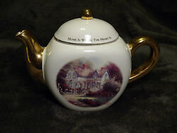 Collectible Teapot Home Is Where The Heart Is By Thomas Kinkade.