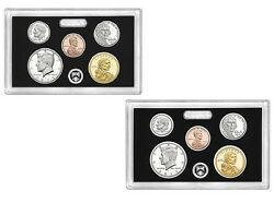 2015s + 2014s Silver Proof Kennedy Dime Penny Nickel Dollar 10 Coins No Box Coa
