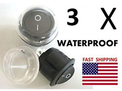 3 Waterproof Switches 2 Wire - Universal 12v Dc Racing Race Car Drag Dash Toggle