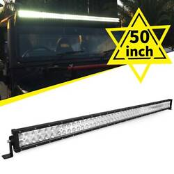 50inch 288w Led Work Light Bar Straight Truck Offroad Atv Suv For Jeep Fog Lamp