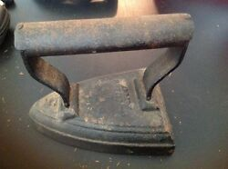 Vintage Heavy Cast Flat Iron With Iron Stand