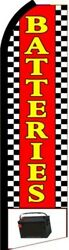Batteries Red/yel/chk 11.5' Standard Swooper Feather Flag Banner