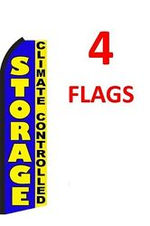 4 (four) STORAGE CLIMATE CONTROLLED 11.5' Standard Swooper FLAG