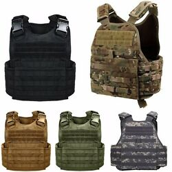 Plate Carrier Solid And Camo Military Molle Tactical Assault Vest Rothco