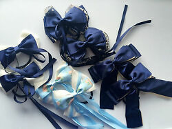 Girl Big Bow Ribbon Back To School Hair Accessory Ponytail Holder Scrunchies