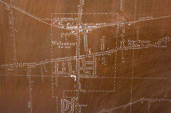 Very Rare 1931 Usgs Antique Copper Map Printing Plates Webster Ny