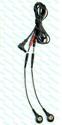 Replacement Electrode Cable For Aurawave Massagers - Use Snap Or Pin Pads