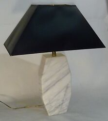 Retro Marble Table Lamp Mid Century Modern Xlt Architectural Octogon 60s Carrera