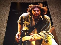 Pearl Jam Signed Eddie Vedder Photo 11x14 Color Extremely Rare L@@k Proof