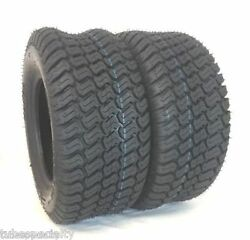 Two 13x6.50-6 Lawn Mower Tires Trac Gard Turf Master Style 4 Pr Tires 13 650 6