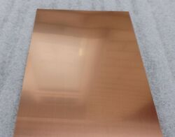 Copper Sheet Metal 1000mm X 500mm - Many Thicknessand039