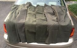 Four Pairs Of Wwii Us Army Combat Field Wool Trousers Pants Nos 1940's Id'd
