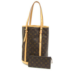 [Free Shipping] [Pre-Owned] Auth LV Monogram Bucket Bag 27
