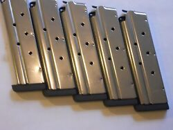 Sale 1911 .40 Cal. Mag Magazinemags1/4 Base 5 Mags8 Shotstainless