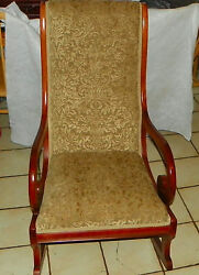 Mahogany Rocker / Rocking Chair By Statesville R190