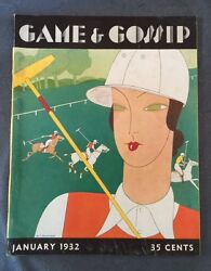 Game And Gossip Magazine January 1932 Rare Issue Includes Xavier Cugat Drawing