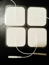 8 Pc Square Replacement Electrode Massage Pads For Rhythm Touch Massager Tens
