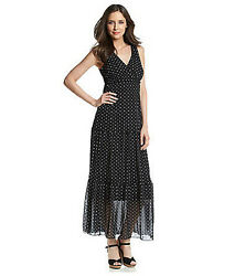 Relativity Womens V-neck Tiered Maxi Dress Original Price 66 - New With Tags