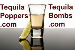 Domain Names Tequila Bombs.com-tequila Popper.com-tequila Poppers.com For Sale