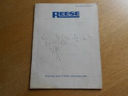 Vintage 1970 Reese Trailer Hitches Accessories Fact Book And Catalog Info Prices