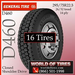 General D460 295/75R22.5 16 tires $351 FREE SHIPPING