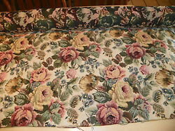 Green Pink Flower Print Tapestry Upholstery Fabric 1 Yard R222