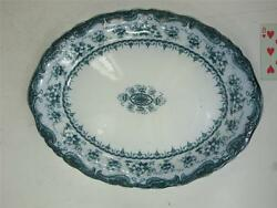 Antique John Maddock And Sons Royal Vitreous Large Platter Blue Flow Waverley