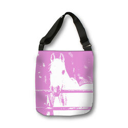 White Horse Pink Cross Body Tote Bag Modern Body BagMessenger BagAnimalKids