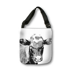 Cow Cross Body Tote Bag Modern Body Bag Messenger Bag Animal Bag Kids Bag