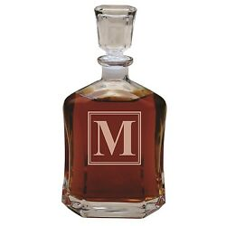 Personalized Whiskey Decanter Custom Engraved Monogrammed for Free with Initial $29.99