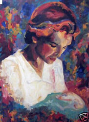 Giver Of Life By Amanda Dunbar - Print On Canvas Mother And Child/baby