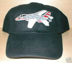 F14 Jet Airplane Aircraft Aviation Hat With Emblem Low Profile Style Black
