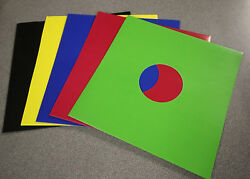 12 Colour Vinyl Record Sleeves - Black / White / Mixed Colours Disco Bags Card