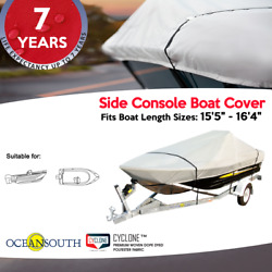 Heavy Duty Solution Dyed Polyester V-hull Side Console Boat Cover 15and0395-16and0394