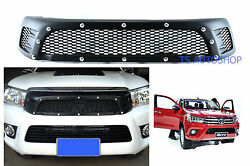 Black Screw Front Grille Grill For Toyota Hilux Revo Sr5 M70 M80 2015-on