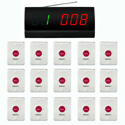 Singcall Wireless Calling System,restaurant Service 15 Pagers 1 Display Receiver