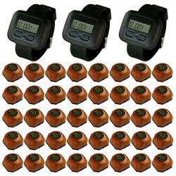 Singcall Wireless Service Calling Systems For Hotel,cafe 3 Watches,40 Buttons