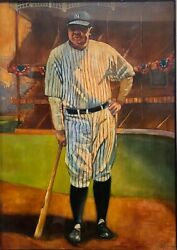 Babe Ruth By Jeff Jamison - Original Oil Painting