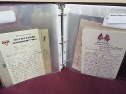 World War I 1915 Nt - Pvt. S. Nisbett Large Collection Of Letters And Notes