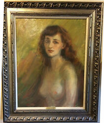 Donna Norine Schuster Redheaded Nude Original Oil Painting- Fabulous