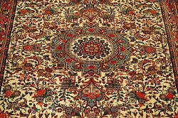 c1920s ANTIQUE HIGHLY KPSI CLASSIC VILLAGE WOVEN PRSIAN BIJAR RUG 3.9x4.10