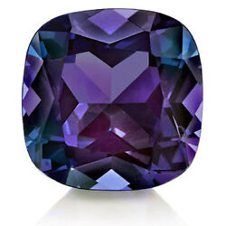 Lab-created Pulled Alexandrite True Color Change Cushion Loose Stone 3x3-25x25
