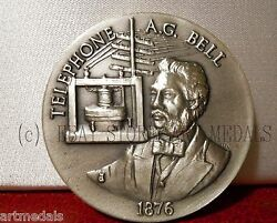 Usa 1876 Bell Telephone Medal Inventor Silver Longines Symphonette Series