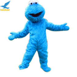 Sesame Street Elmo Cookie Monster Adult Mascot Costume Suit Outfit Clothing New