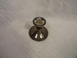 Sterling Silver Rogers Candlesticks Holder 3001 Weighted Excellent Condition
