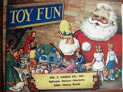 Antique Vintage Christmas Catalog For Jos.s.harris, Co W Slinky And Howdy Doody