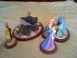 WDCC  DISNEY'S SLEEPING BEAUTY AN UNINVITED GUEST STATUE SET-RARE LMT ED #353