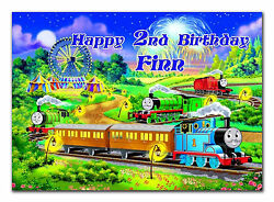 Large Personalised Birthday Train Card Any Age And Name For Little Or Big D332